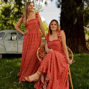 Υφασμάτινα Γυναίκα Μακριά Φορέματα Céleste AURORE Red