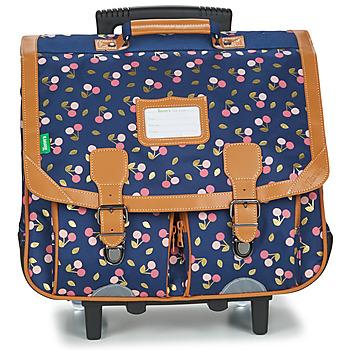 Τσάντες Κορίτσι Σχολικές τσάντες με ροδάκια Tann's ALEXA TROLLEY CARTABLE 41 CM Marine