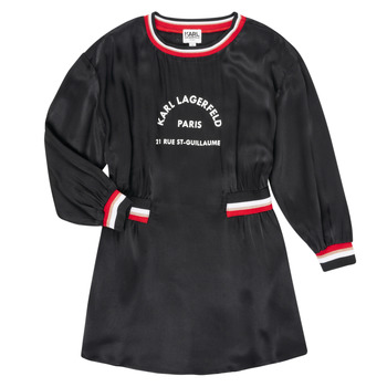 Υφασμάτινα Κορίτσι Κοντά Φορέματα Karl Lagerfeld RUBIS Black