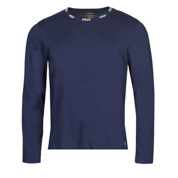Υφασμάτινα Άνδρας Μπλουζάκια με μακριά μανίκια Polo Ralph Lauren CREEW SLEEP TOP Marine