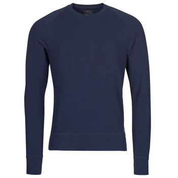Υφασμάτινα Άνδρας Μπλουζάκια με μακριά μανίκια Polo Ralph Lauren LS CREW SLEEP TOP Marine