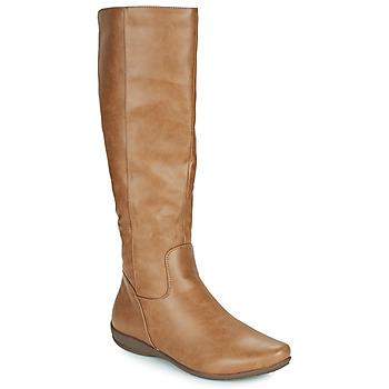 Παπούτσια Γυναίκα Μπότες για την πόλη Moony Mood PLERILA Camel