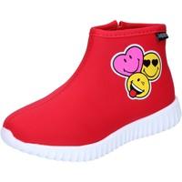 Παπούτσια Κορίτσι Μποτίνια Smiley BJ990 Red