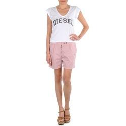 Υφασμάτινα Γυναίκα Σόρτς / Βερμούδες Diesel HANTU ροζ