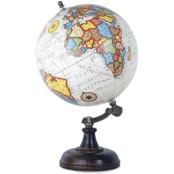 Σπίτι Αγαλματίδια και  Signes Grimalt Παγκόσμια Globe Λευκή 20 Cm Multicolor