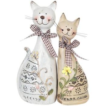 Σπίτι Αγαλματίδια και  Signes Grimalt Ζεύγος Γάτες Set 2 Μονάδες Multicolor