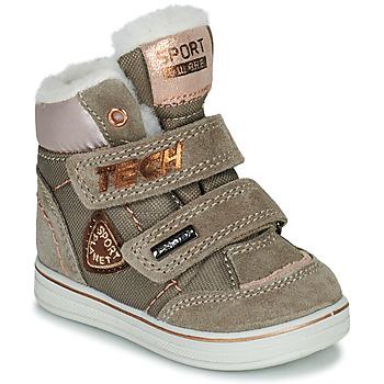 Παπούτσια Κορίτσι Μπότες Citrouille et Compagnie PALADIN Taupe / Ροζ