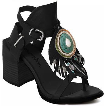 Παπούτσια Γυναίκα Γόβες Rebecca White T0509 |Rebecca White| D??msk?? sand??ly na vysok??m podpatku z ?ern??