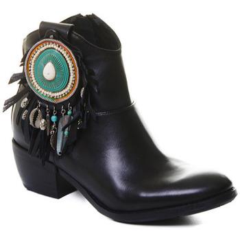 Παπούτσια Γυναίκα Μποτίνια Rebecca White T0605 |Rebecca White| D??msk?? ?ern?? ko?en?? kotn??kov?? boty s bloko