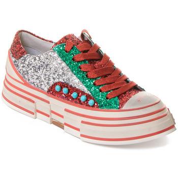 Παπούτσια Γυναίκα Sneakers Rebecca White T2208 |Rebecca White| D??msk?? st???brn??/?erven??/zelen?? t?pytiv?? t