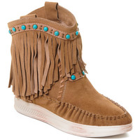 Παπούτσια Γυναίκα Μποτίνια Rebecca White T6016 Brown