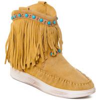 Παπούτσια Γυναίκα Μποτίνια Rebecca White T6016 Yellow
