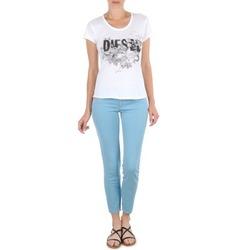 Υφασμάτινα Γυναίκα Κοντά παντελόνια Diesel LIVIER-ANKLE μπλέ