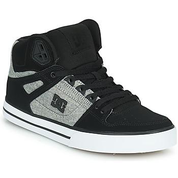 Παπούτσια Άνδρας Ψηλά Sneakers DC Shoes PURE HIGH-TOP WC Black / Grey