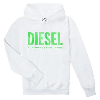 Υφασμάτινα Παιδί Φούτερ Diesel SDIVISION LOGOX OVER Άσπρο