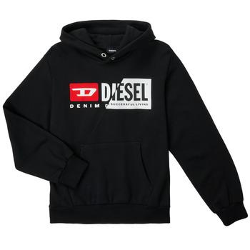 Υφασμάτινα Παιδί Φούτερ Diesel SGIRKHOODCUTYX OVER Black
