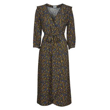 Υφασμάτινα Γυναίκα Μακριά Φορέματα Vila VIZUGI Black / Yellow / Μπλέ