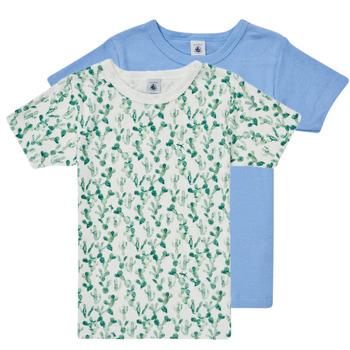 Υφασμάτινα Αγόρι T-shirt με κοντά μανίκια Petit Bateau LOLITA Multicolour