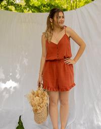 Υφασμάτινα Γυναίκα Ολόσωμες φόρμες / σαλοπέτες Céleste NEROLI  terracotta