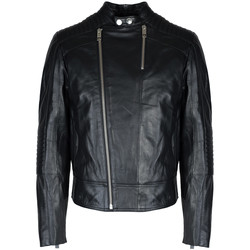 Υφασμάτινα Άνδρας Δερμάτινο μπουφάν Les Hommes  Black