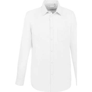 Υφασμάτινα Άνδρας Πουκάμισα με μακριά μανίκια Sols BOSTON FIT BLANCO Blanco