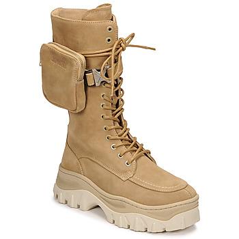 Παπούτσια Γυναίκα Μπότες Bronx JAXSTAR HIGH Beige