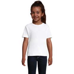 Υφασμάτινα Κορίτσι T-shirt με κοντά μανίκια Sols CHERRY Blanco Blanco