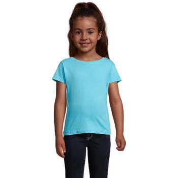 Υφασμάτινα Κορίτσι T-shirt με κοντά μανίκια Sols CHERRY Azul Azul