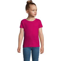 Υφασμάτινα Κορίτσι T-shirt με κοντά μανίκια Sols CHERRY Fucsia Burdeo