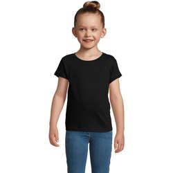 Υφασμάτινα Κορίτσι T-shirt με κοντά μανίκια Sols CHERRY Negro Negro