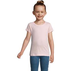 Υφασμάτινα Κορίτσι T-shirt με κοντά μανίκια Sols CHERRY Rosa Rosa