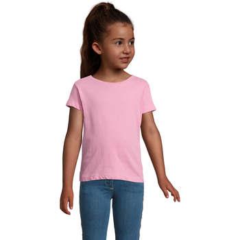 Υφασμάτινα Κορίτσι T-shirt με κοντά μανίκια Sols CHERRY Rosa Orqudea Rosa