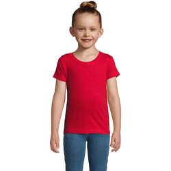 Υφασμάτινα Κορίτσι T-shirt με κοντά μανίκια Sols CHERRY Rojo Rojo