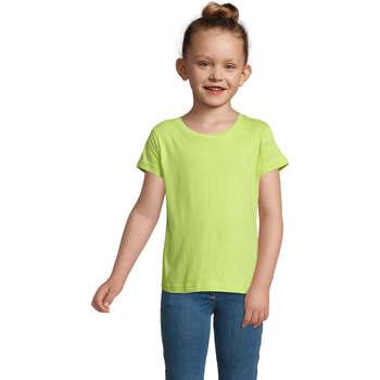 Υφασμάτινα Κορίτσι T-shirt με κοντά μανίκια Sols CHERRY Verde Manzana Verde