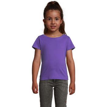 Υφασμάτινα Κορίτσι T-shirt με κοντά μανίκια Sols CHERRY Morado Oscuro Violeta