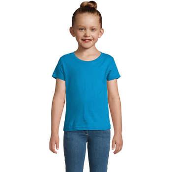Υφασμάτινα Κορίτσι T-shirt με κοντά μανίκια Sols CHERRY Aqua Azul