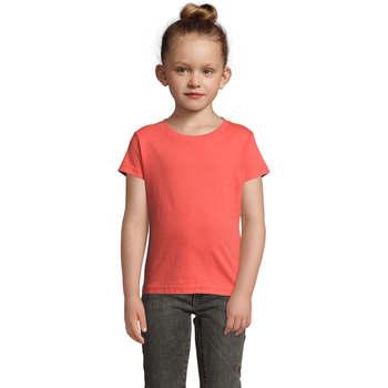 Υφασμάτινα Κορίτσι T-shirt με κοντά μανίκια Sols CHERRY Coral Otros