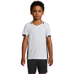 Υφασμάτινα Κορίτσι T-shirt με κοντά μανίκια Sols CLASSICO KIDS Blanco Negro Blanco