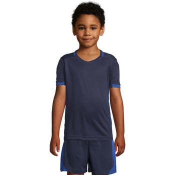 Υφασμάτινα Παιδί T-shirt με κοντά μανίκια Sols CLASSICOKIDS Marino Azul Azul