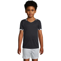 Υφασμάτινα Αγόρι T-shirt με κοντά μανίκια Sols CLASSICOKIDS Negro Blanco Negro