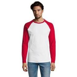 Υφασμάτινα Άνδρας Μπλουζάκια με μακριά μανίκια Sols FUNKY LSL Blanco Rojo Rojo