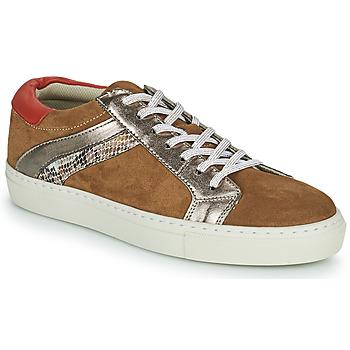 Παπούτσια Γυναίκα Χαμηλά Sneakers Betty London PITINETTE Cognac