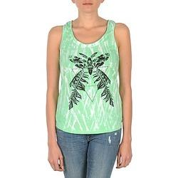 Υφασμάτινα Γυναίκα Αμάνικα / T-shirts χωρίς μανίκια Eleven Paris PAPILLON DEB W Green / Άσπρο