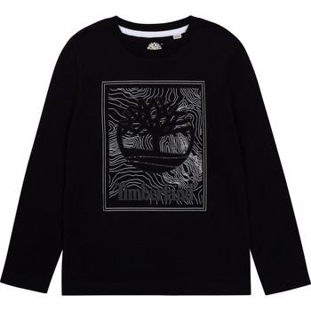 Υφασμάτινα Αγόρι Μπλουζάκια με μακριά μανίκια Timberland AIFRET Black