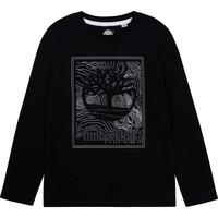 Υφασμάτινα Αγόρι Μπλουζάκια με μακριά μανίκια Timberland BAGIRI Black