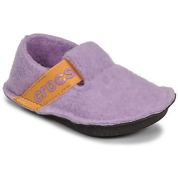 Παπούτσια Κορίτσι Παντόφλες Crocs CLASSIC SLIPPER K Violet / Yellow