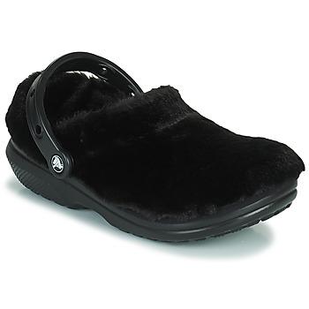 Παπούτσια Γυναίκα Σαμπό Crocs CLASSIC FUR SURE Black