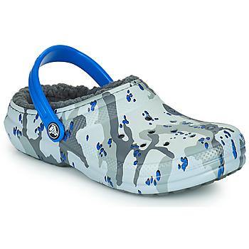 Παπούτσια Αγόρι Σαμπό Crocs CLASSIC LINED CAMO CG K Grey / Μπλέ
