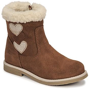 Παπούτσια Κορίτσι Μπότες για την πόλη Citrouille et Compagnie PARAVA Camel