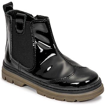 Παπούτσια Κορίτσι Μπότες Citrouille et Compagnie PATATA Black / Vernis